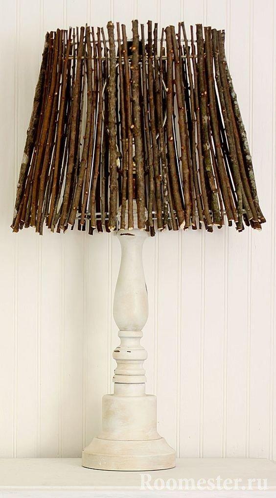Декор для вазы из сухих веток