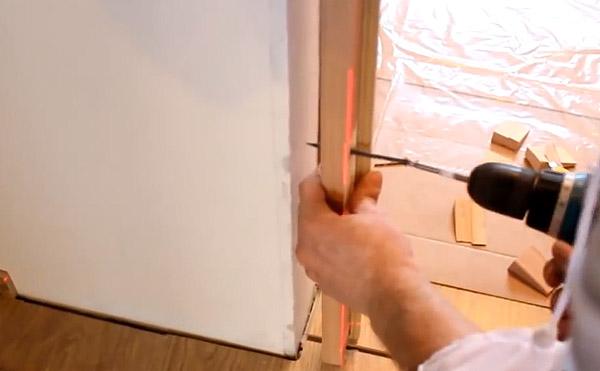Правильная сборка дверной коробки межкомнатной двери