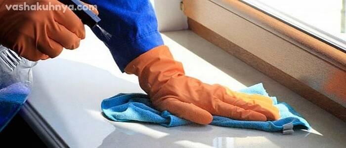 Чем отмыть подоконник пластикового окна: как очистить от желтизны или после ремонта от старой пленки