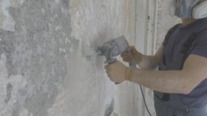Как снять краску с бетонной стены Как убрать и чем удалить старое масляное покрытие удаление лакокрасочного материала как быстро очистить поверхность