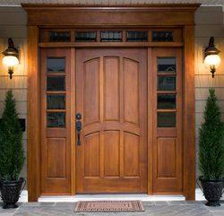 Как самому сделать входную дверь из дерева