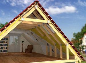 Мансардный этаж деревянного дома