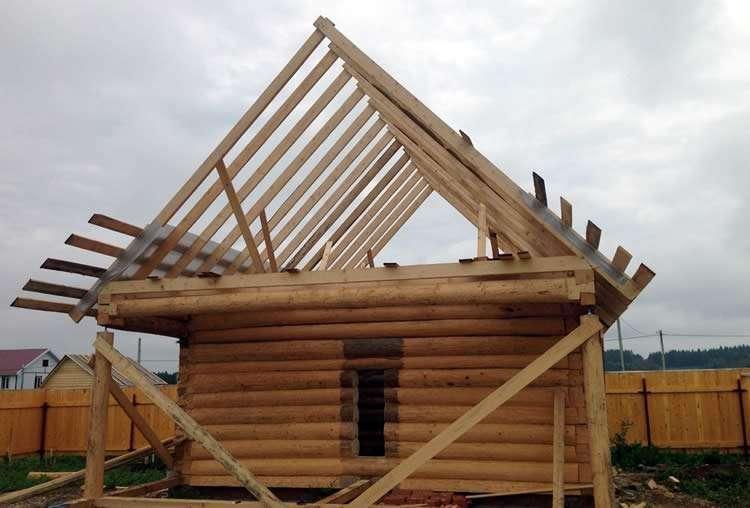 Как построить стропила двускатной крыши -