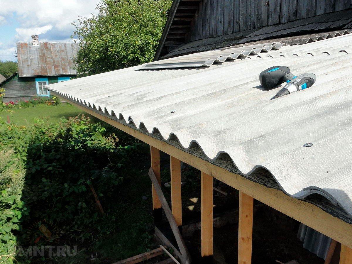 Перекрыть крышу в частном доме шифером