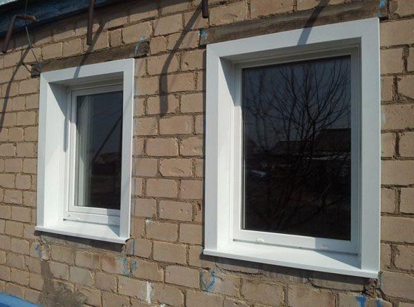 Откосы для пластиковых окон снаружи