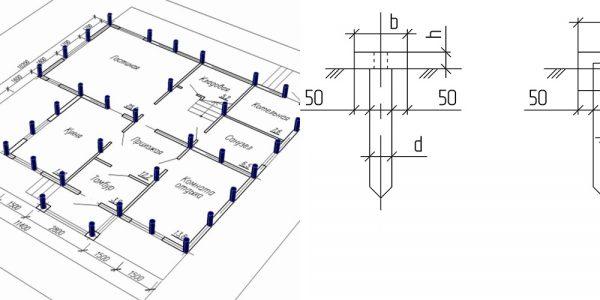 Свайный фундамент расстояние между сваями – как правильно рассчитать шаг в свайно-ленточной конструкции