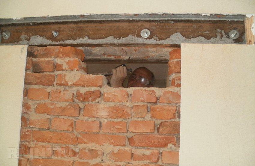 прорубить дверь в стене разрешение