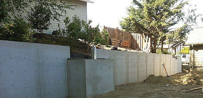 Подпорная стена из бетона технология