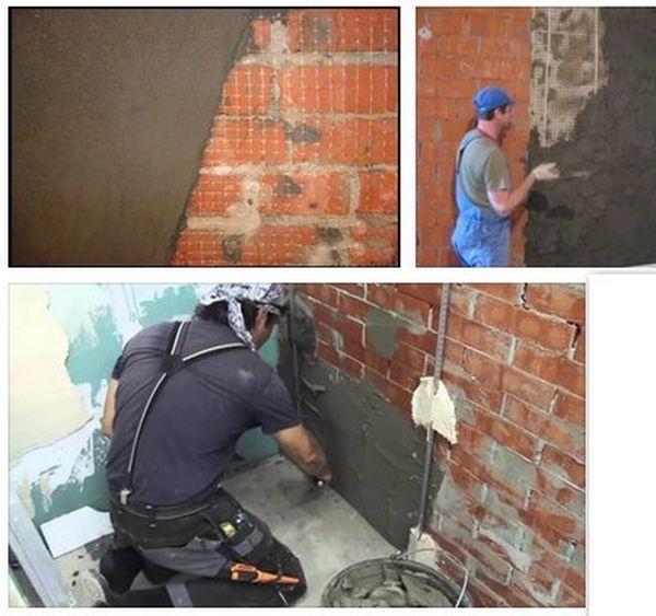 Выравнивание стен цементным раствором своими раствор строительный купить