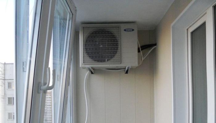 Установка наружного блока кондиционера монтаж внешнего блока на застекленном балконе фасаде дома и лоджии Правила установки На какой высоте вешают