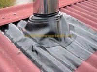 Как закрепить вытяжную трубу на крыше