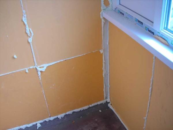 Утепление и отделка стен внутри