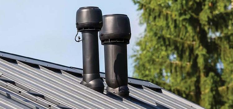 Высота трубы вентиляции относительно конька крыши