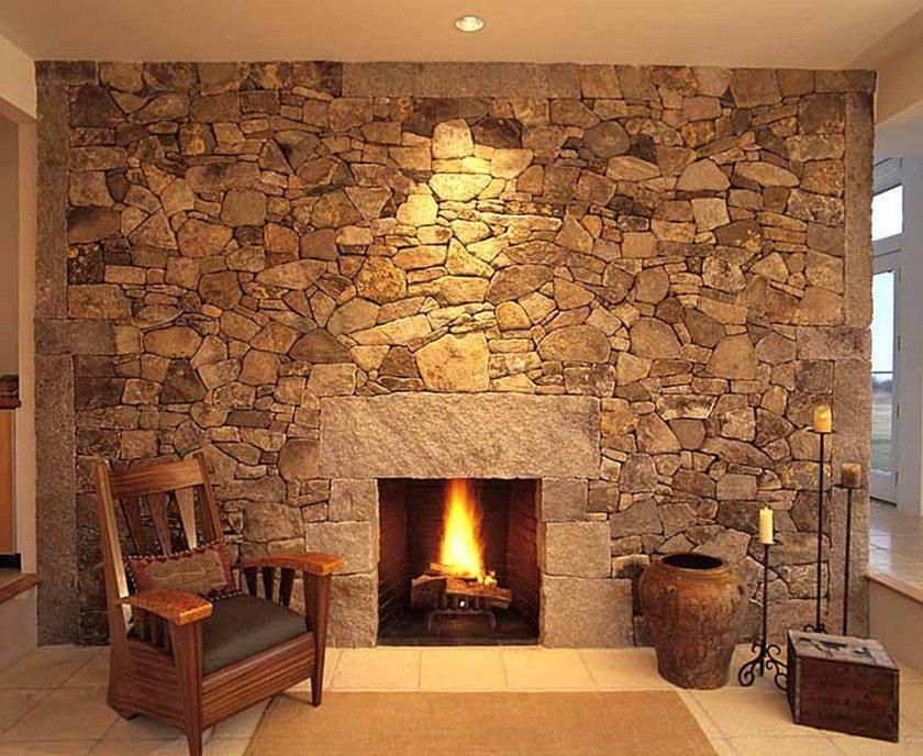 Облицовка стен плиткой под камень
