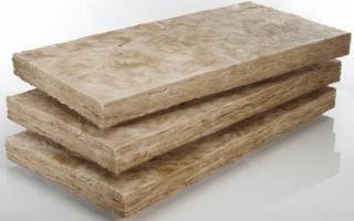 Размер утеплителя минеральной ваты для стен