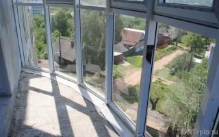 Утепление стеклянной лоджии