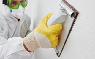 Как шкурить стены после шпаклевки без пыли