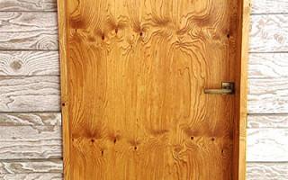Как сделать дверь из фанеры своими руками