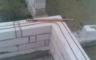 Вертикальное армирование стен из газобетона