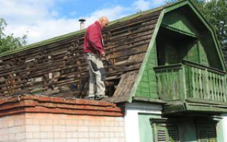 Ремонт черепичной крыши частного дома