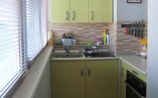 Кухня на лоджии 3 метра