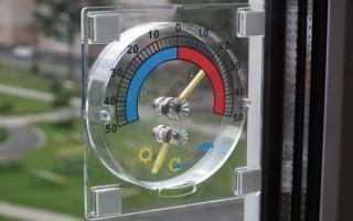 Как приклеить градусник на пластиковое окно