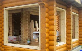 Как вставить окна в брусовом доме