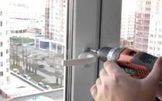 Как поменять ручку на пластиковом окне