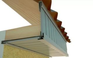Карнизный узел стропильной крыши