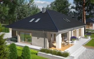 Квадратные дома с четырехскатной крышей