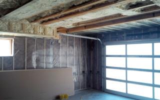 Утепление стен гаража изнутри своими руками