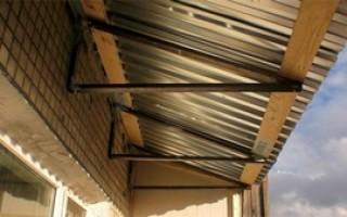 Как сделать крышу на балконе своими руками