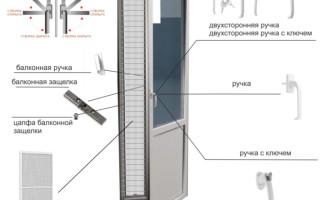Как установить защелку на пластиковую балконную дверь