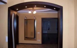 Как поставить арку в дверной проем