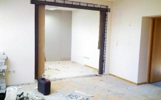 Как увеличить дверной проем в бетонной стене
