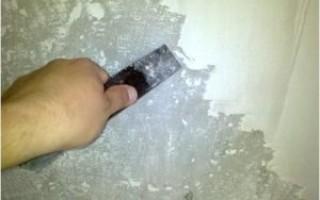 Как убрать известь со стен