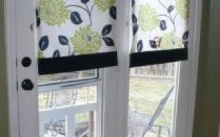 Самодельные ролеты на окна