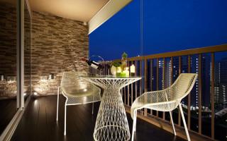 Фотообои на балконе интерьер
