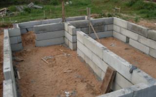 Фундаменты из блоков фбс под малоэтажные дома