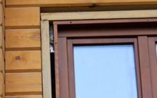 Технология монтажа пластиковых окон в деревянном доме