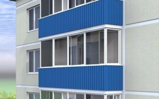 Обшивка балкона профлистом своими руками