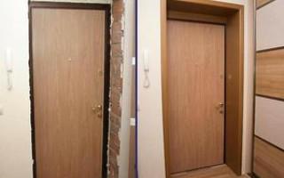Чем отделать откосы входной двери внутри квартиры