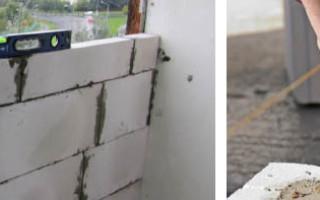 Как сложить стену из пеноблоков