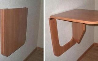 Как сделать складной столик на балкон