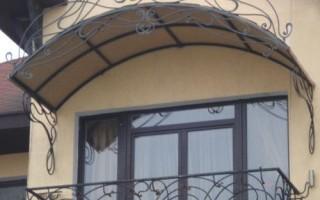 Ремонт козырька над балконом