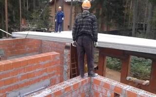 Опирание монолитного перекрытия на кирпичную стену
