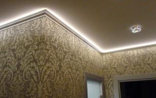 Как спрятать светодиодную ленту на стене