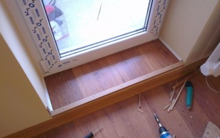 Порог на балкон из плитки