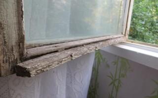 Как покрасить старые деревянные окна
