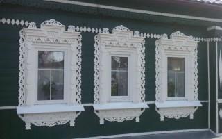 Красивые наличники на окна в деревянном доме